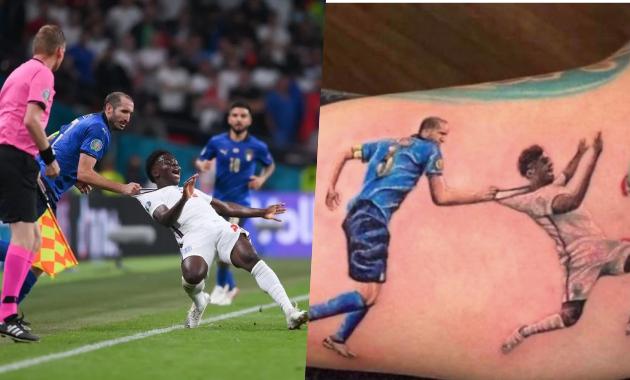 Italian-fan-tattooed-Chiellini-tacked-Saka-moment